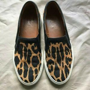 Givenchy Skate Basse Leopard Print Leather Slip On